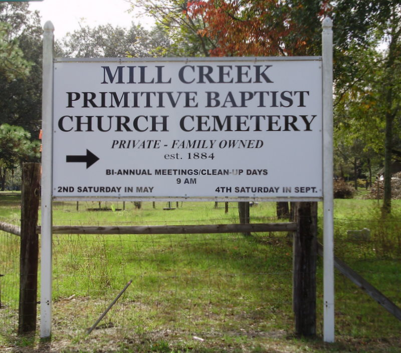 Mill Creek Primitive Baptist Church Cemetery